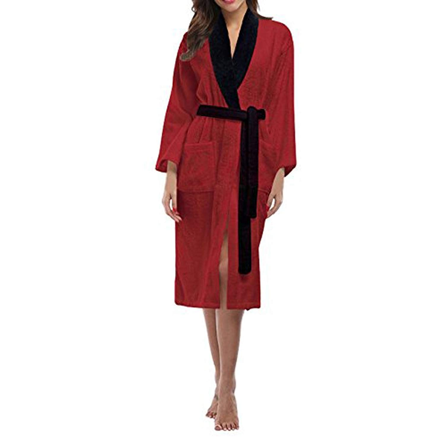 Get Quotations · SKYLINEWEARS Women s 100% Terry Cotton Bathrobe Toweling  Dressing Gown Robe 56d53d292