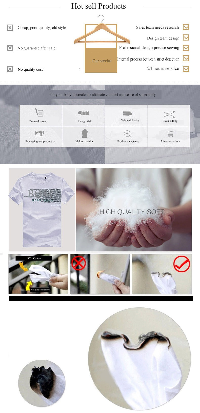 Custom silk screen printing men's fashion cotton tee shirts/tshirts