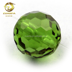 faceted ball shape color change glass synthetic sultanite glass beads