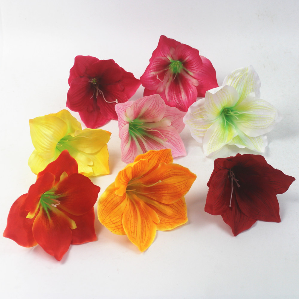 silk cloth Single <strong>flower</strong> artificial kaffir lily <strong>flower</strong> head clivia minata <strong>flower</strong>