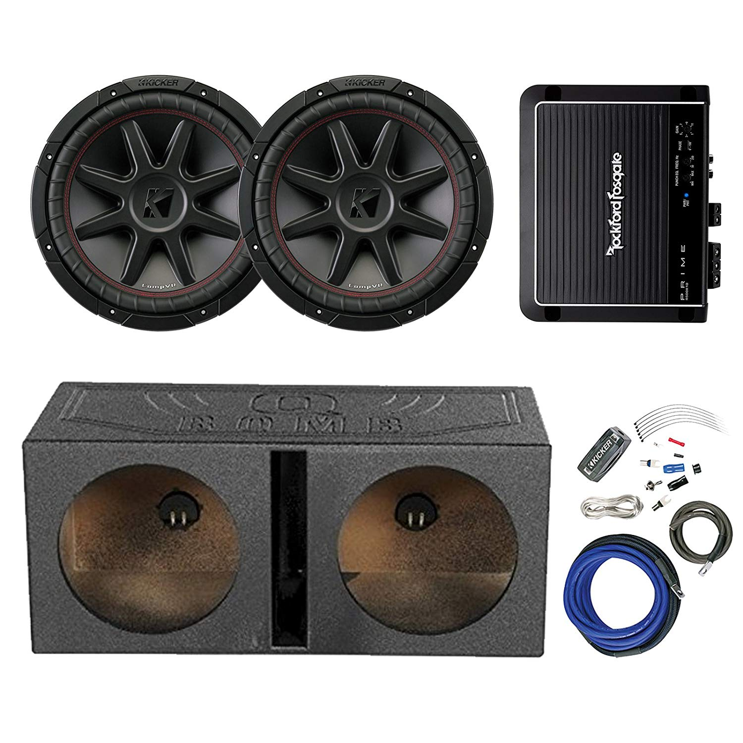 Cheap 8 Ohm Subwoofer Wiring Find Deals On How To Wire 4 Dual Voice Coil Subs Harness Get Quotations 2x Kicker 12 800 Watt Car Audio And Qpower Qbomb12v