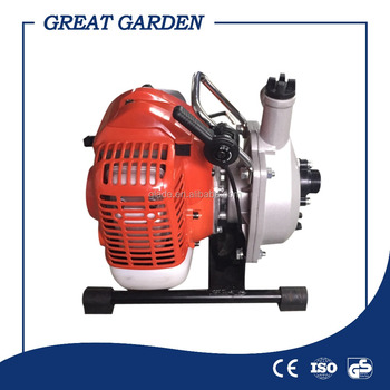 garden machinery single cylinder air cooled 2 strokes mini gasoline pump water