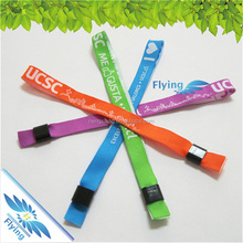 New design woven polyester bracelet event wristband with durable quality