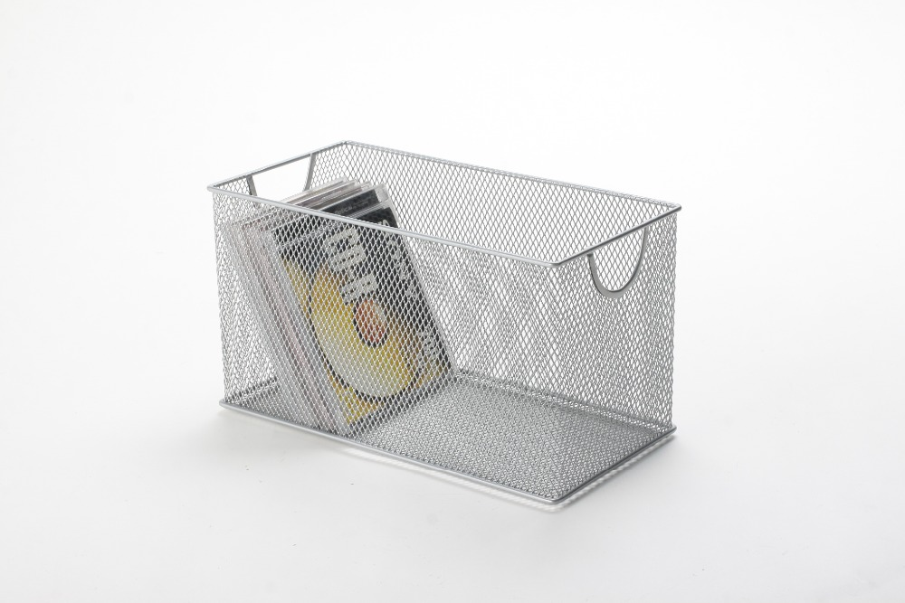 metal mesh office square CD storage organizer
