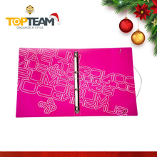 Neon series pp a4 filing stationery 2 hole ring binder with elastic