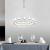 New modern house design led pendant light interior decoration metal chandelier