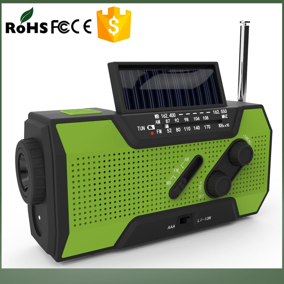 NO MOQ Requirement AM/FM/NOAA built-in rechargable battery am/fm radio