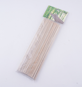 Disposable 3mm Diameter 9.8 Inches Length Nature BBQ Barbecue Bamboo Skewers For Grill