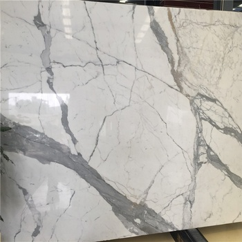 Italian block sources Statuario white marble slabs tiles staircase with premium quality