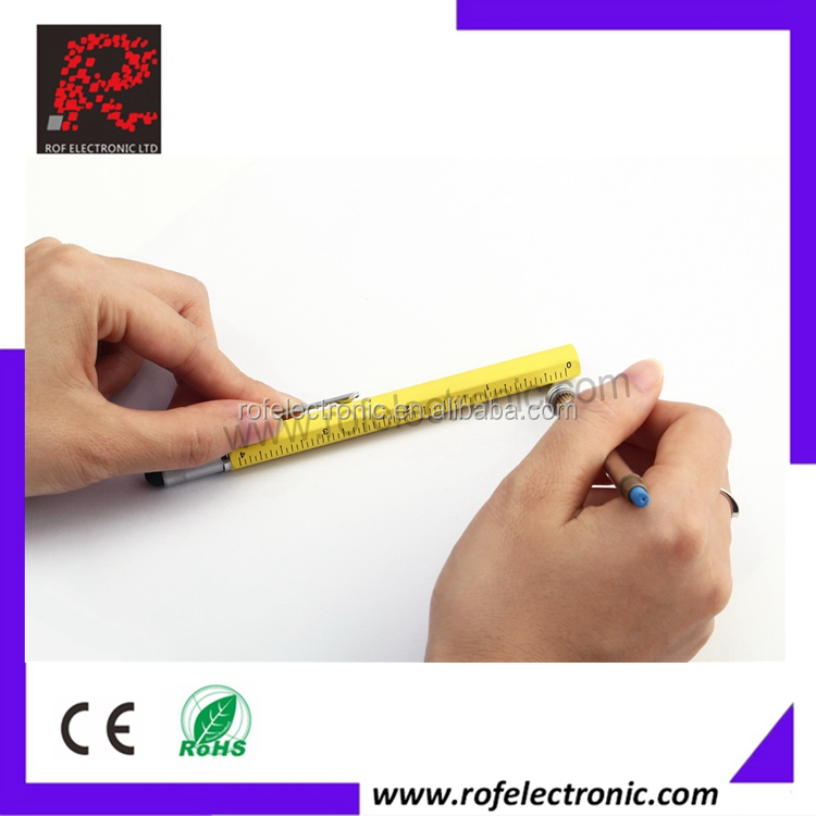 Tech Digital Tool Level Pen with ball pen, level, screwdriver and ruler