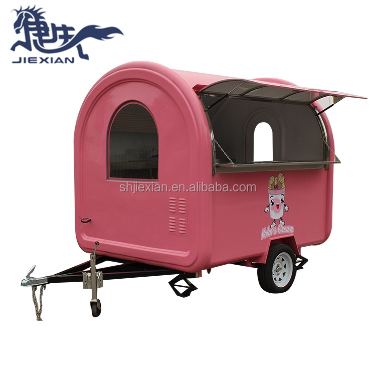 JX-FR220W Hot dog ijs voedsel winkelwagen concessie trailer, mini truck voedsel, gebruikt voedsel vrachtwagens voor verkoop in duitsland
