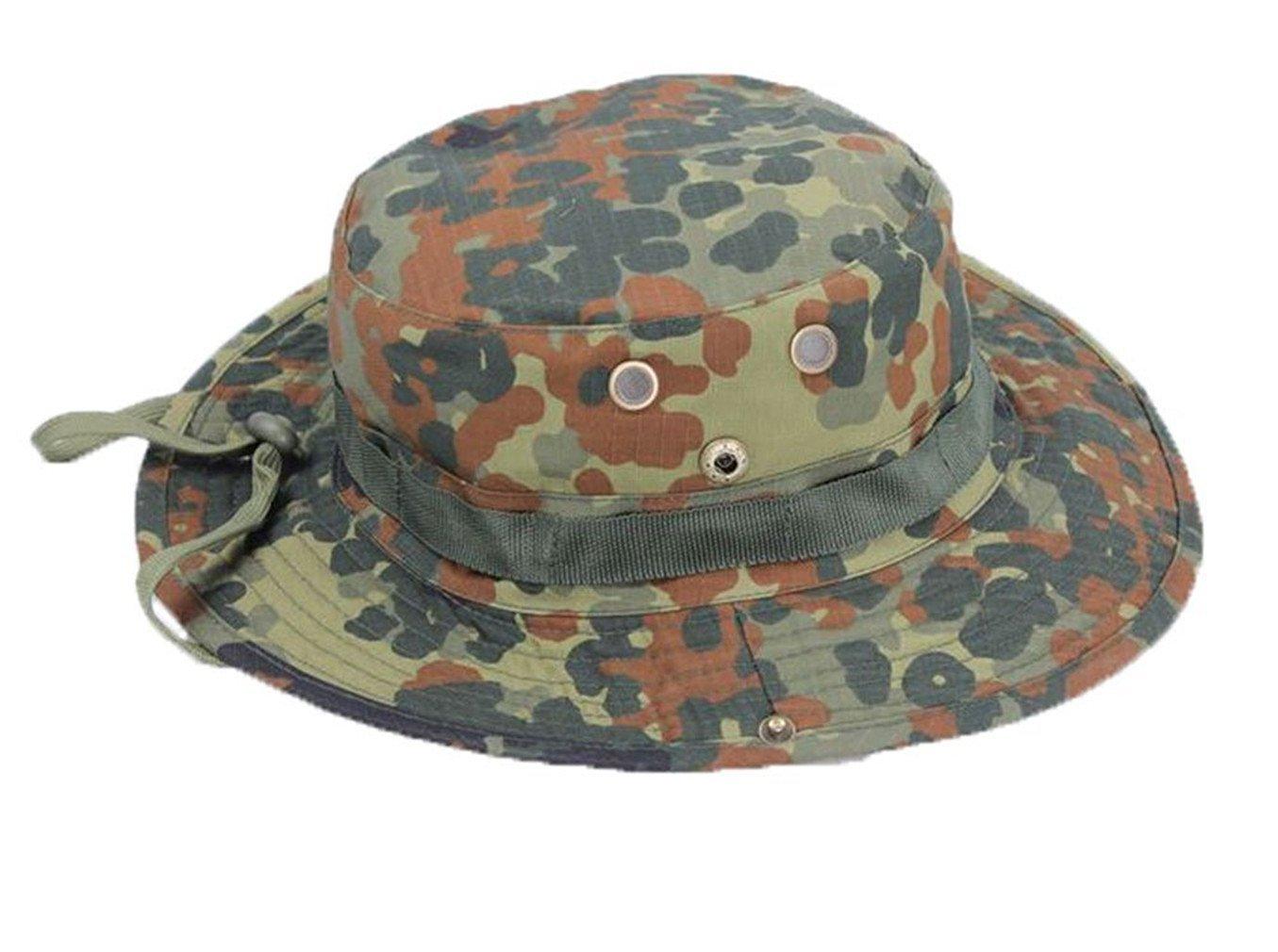 878d2b6e469d4 ... Activties (German Flecktarn). 4.4. null. Get Quotations · Herebuy8  Fashion Men Tactical Head Wear boonie Hat Camo Cap for Wargame
