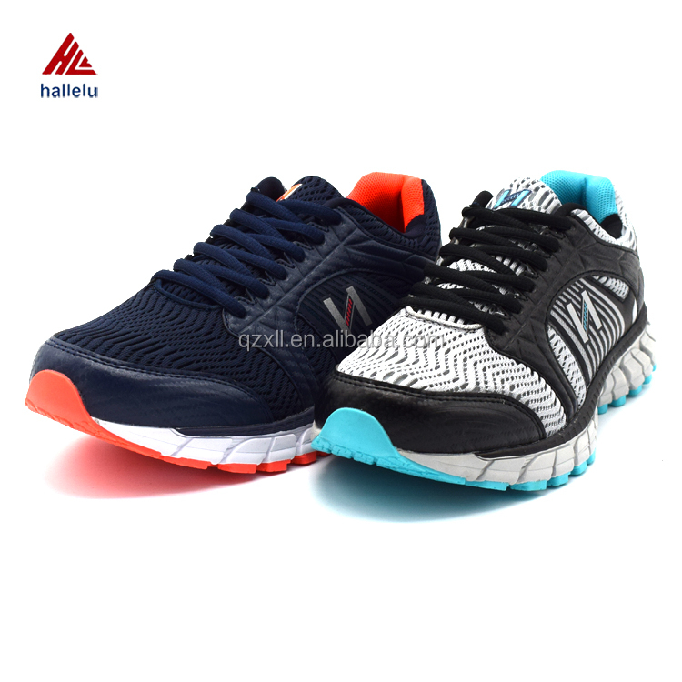 Summer Breathable Air Holes Mesh Sport Shoes America Fashion Men Lace Up EVA TPR Outsole Running Athletic Shoes