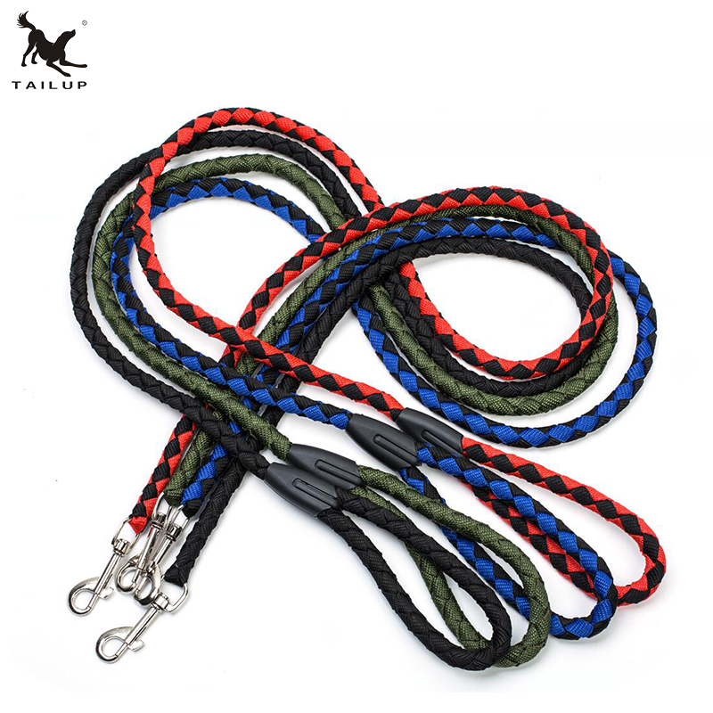 Dogs and Cats Application Braided Nylon Dog Leash Lead