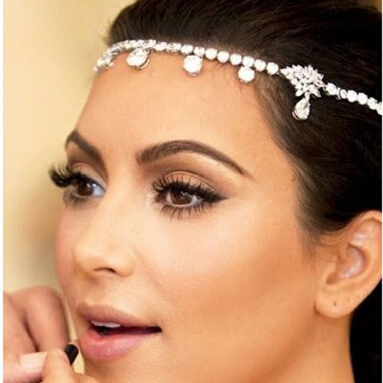 Dinah mode cristal de mariée cheveux accessoires vintage mariage tiare  bijoux de cheveux gros XB05