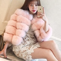 Fashion Natural Color Faux Fur Gilet Winter Thick Warm Fake Fur Jacket
