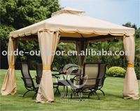 outdoor modern aluminium wind proof gazebo with mosquito net