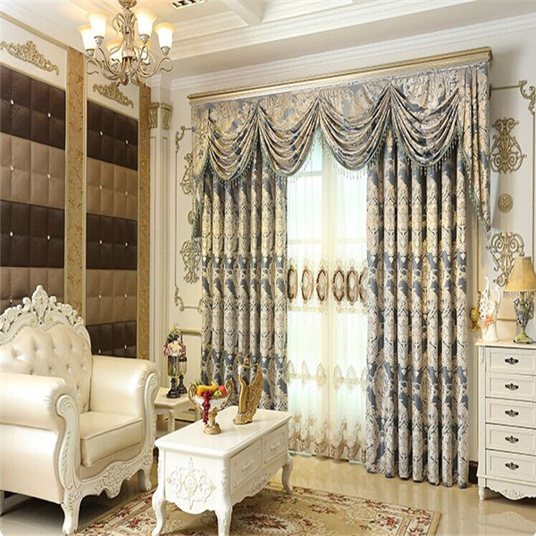 jacquard tissu rideau sans fil t l commande rideau avec wave valance rideaux id de produit. Black Bedroom Furniture Sets. Home Design Ideas