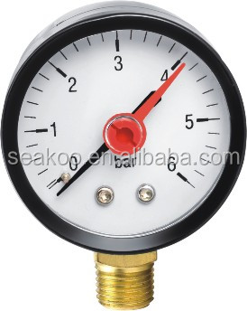 Y40 water pump pressure gauge