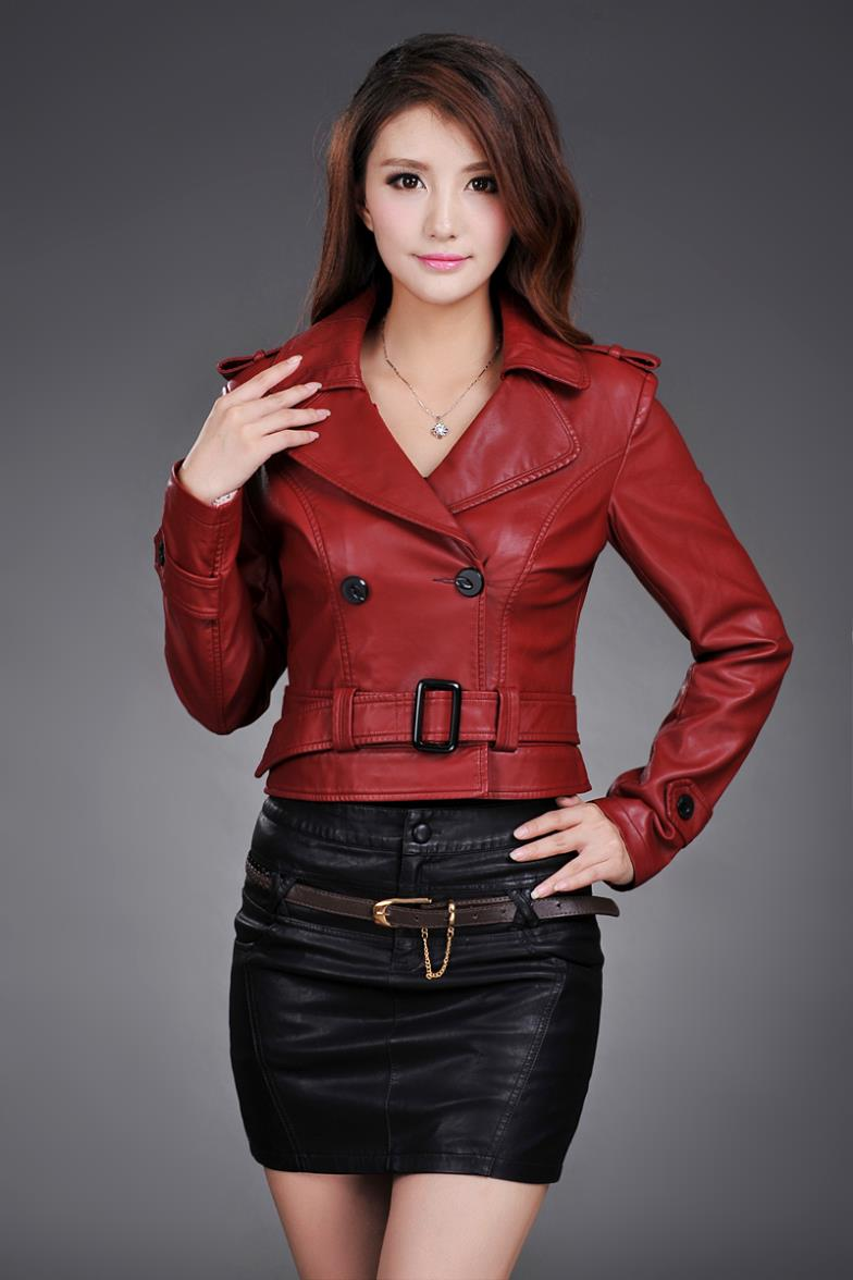 6d31e40c61dcb 2019 Leather Jacket Women Top Fashion New Plus Size Slim Dual Use Pu ...