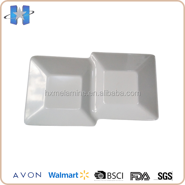 Disposable White Plastic Melamine Two Divided Plate  sc 1 st  Alibaba & China White Disposable Plastic Plate Wholesale ?? - Alibaba