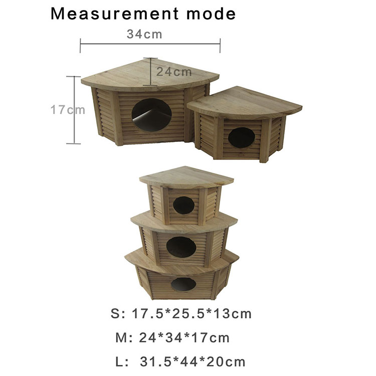3 Floors Assembled Wooden Hamster house cages for small animals