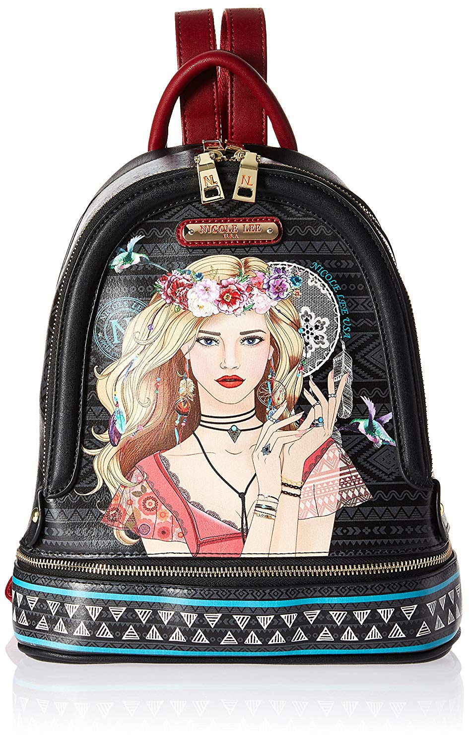 802c01b336 Get Quotations · Nicole Lee Women s Multi-Functional  Pink  Smart Lunch  Backpack