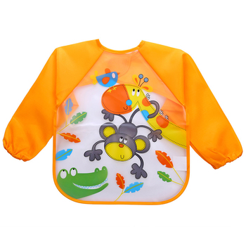 2019 Baby Bibs Infant Burp Cloths Long Sleeve Waterproof Coverall Baby Animals Toddler Scarf Feeding Smock Baby Feeding bibs