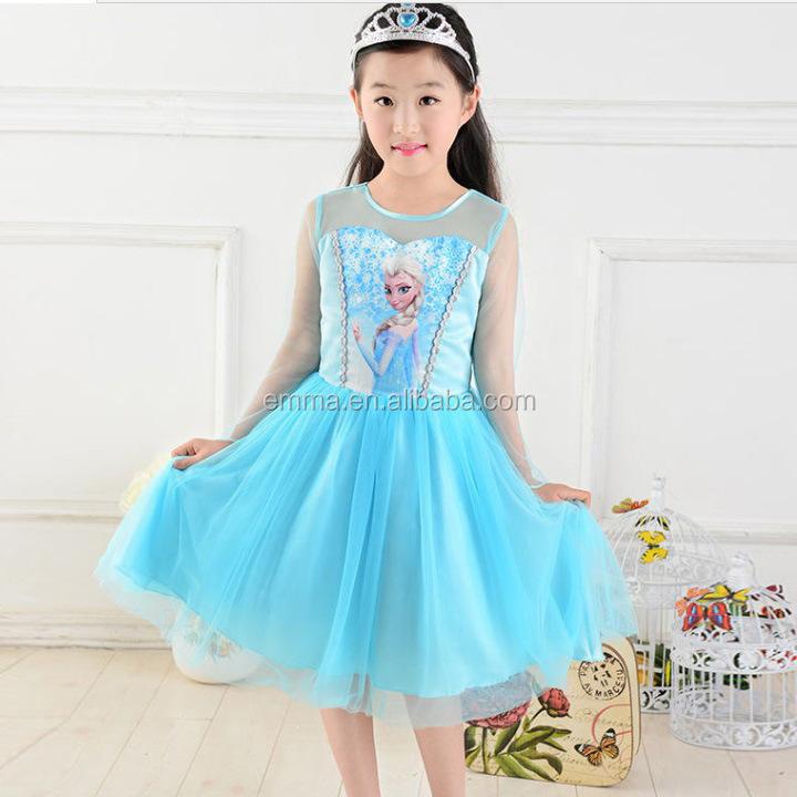 BC5560 BC5566 BC5578 BC5500 ...  sc 1 st  Alibaba & Frozen Elsa Anna Princess Dress Wholesale Child Clothes Flower Girl ...