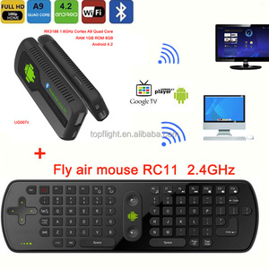 New Quad Core Android UG007B RK3188 2GB/8GB 1 6GHZ Google Play Store TV  Dongle TV Stick+R11 Keyboard Air Mouse