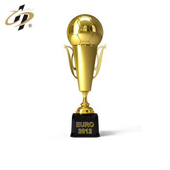 Promotional custom metal gold sport soccer trophy cup