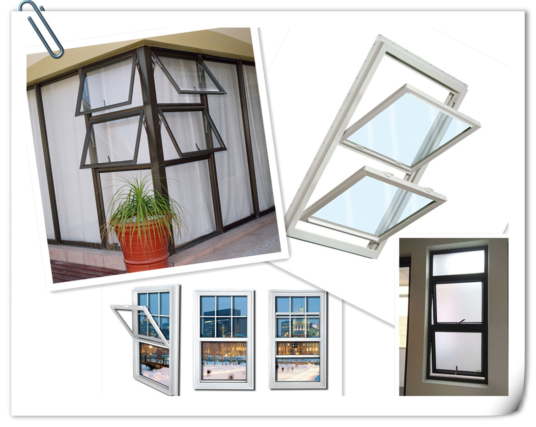 Double glazing aluminum double hung window single hung windows factory