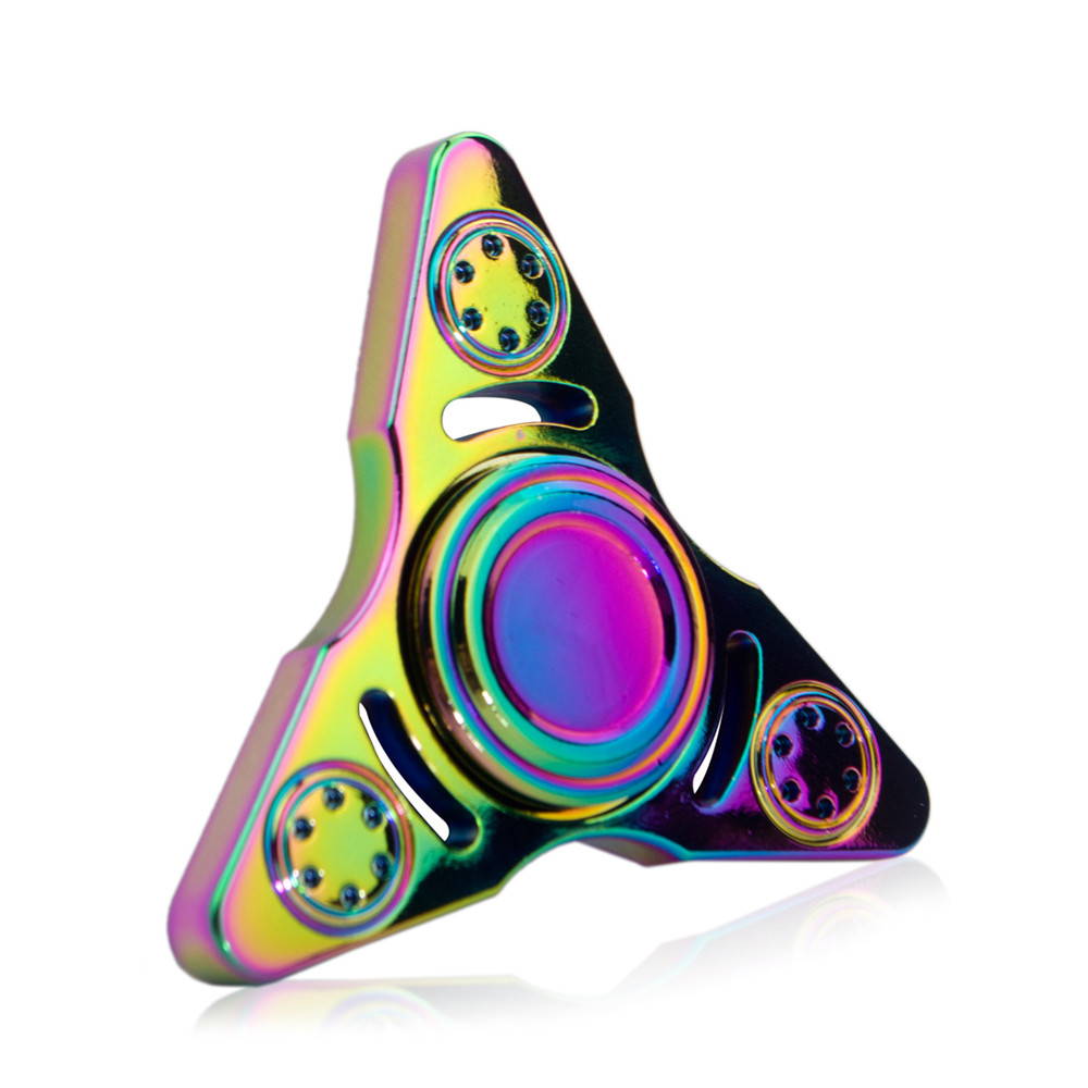 2017 target hot selling FINGER SPINNER Rainbow Color 2 Sides Fidget Spinner Toy Relieve Stress High Speed Focus Toy for Killing