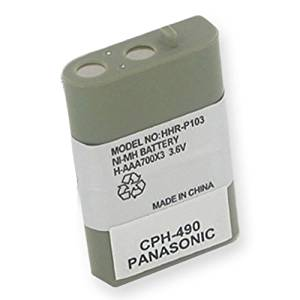 AT-T/Lucent EP5632 Cordless Phone Battery Ni-MH, 3.6 Volt, 700 mAh - Ultra Hi-Capacity - Replacement for Panasonic HHR-P103 Rechargeable Battery