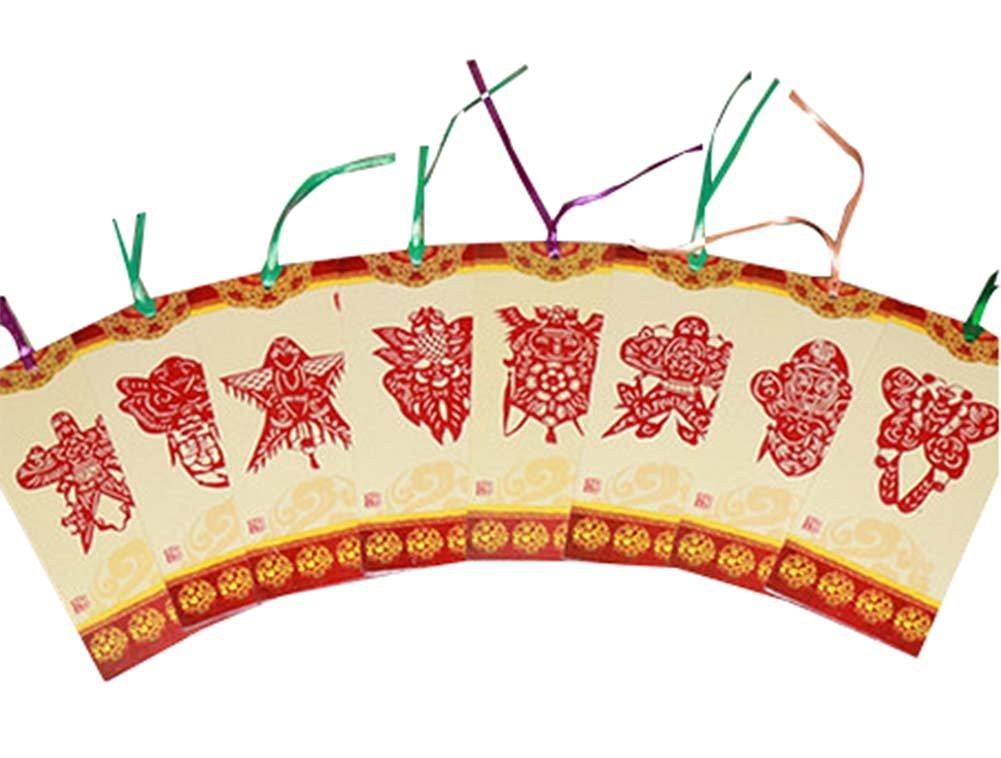16 pcs Bookmarks Paper Cutting Bookmarks Paper-cut Kite