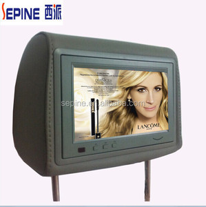 7 inch taxi back seat outdoor led advertising screen with USB