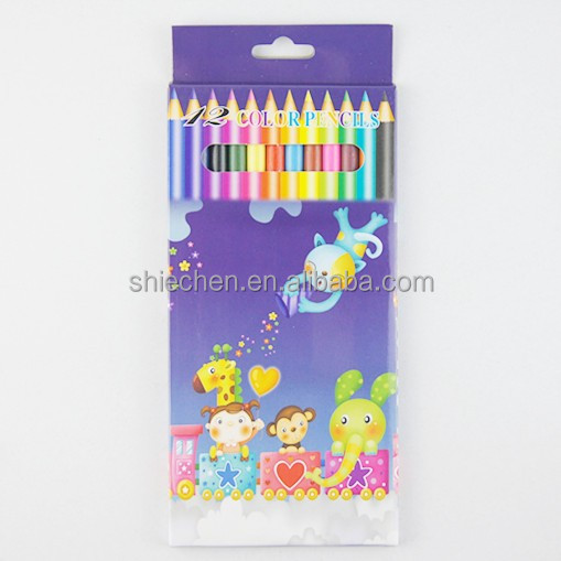 Wooden pencil coloring set 7 inch 12pcs in gift box