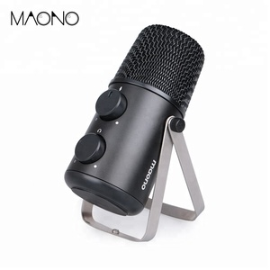 New Arrival Aluminum alloy+ Plastic Wired USB oem microphone