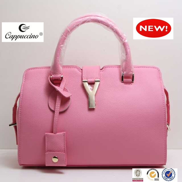 young fashion lady handbag 100% real leather designer handbags