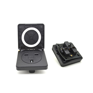 IP 44 watertight electric UK outlet garden socket