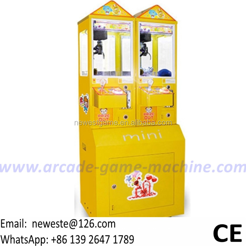 Hot Sale maquinas de juego Coin Operated Games Mini Gift Toy Vending Cranes Claw Machine For Sale