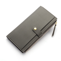 SWTR1550 Long Solid Women Wallets Fashion Hasp Leather Wallet Female Simple Wallet Coin Purse