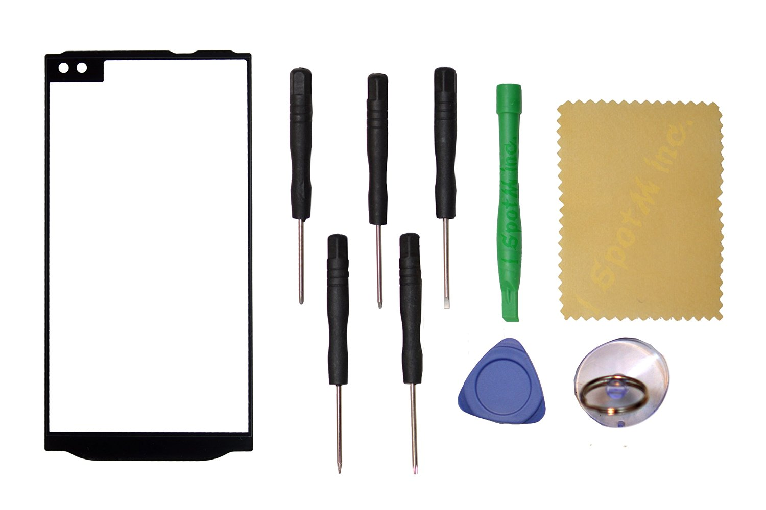 OEM Outer Front Screen Glass Panel Lens Replacement LG V10 H900 H901 VS990+Tools