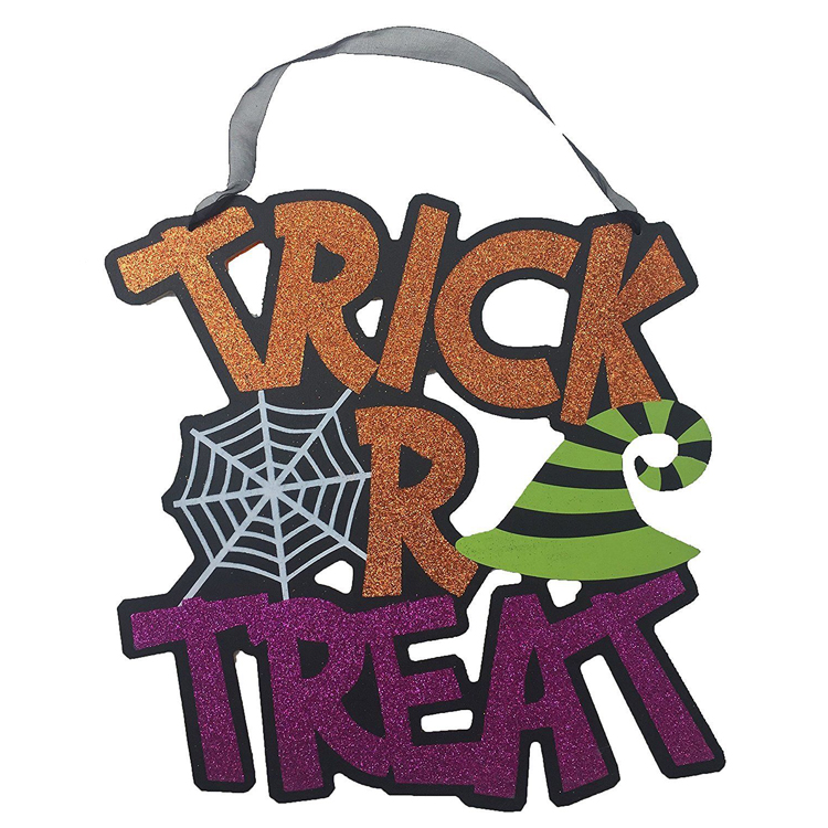 2018 Halloween trick or treat wooden sign blanks decoration in bulk