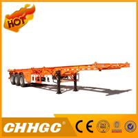 Best selling 3 axles 40ft used container chassis skeleton semi trailer for sale