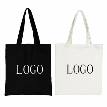 Wholesale custom blank reusable eco cotton canvas shopping tote bag with pocket with your logo