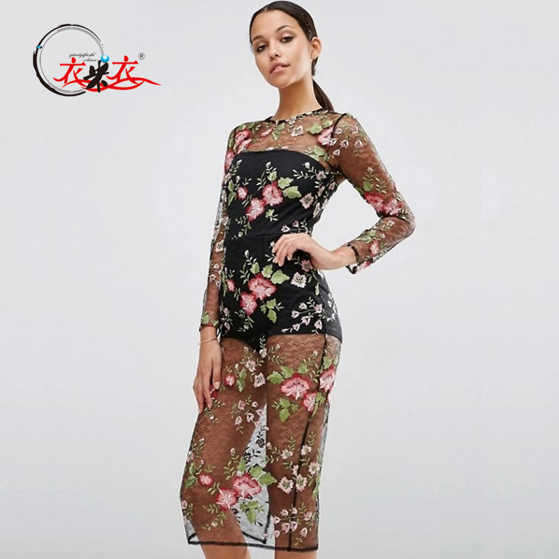 Women Clothing Floral Mesh Maxi Bodycon Dress Buy Mesh Maxi Dress