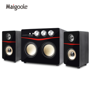 Maigoole 2.1 portable audio Wood OEM Speaker System 60W 2.1 Active Heavy Bass Home Theater Multimedia professional Speaker