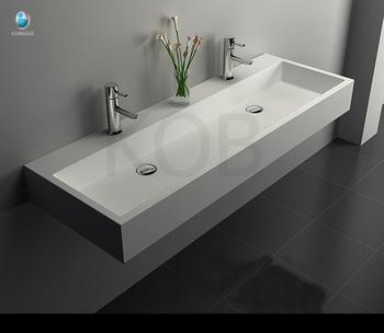 Resin Stone Double Sink Bathroom Modern