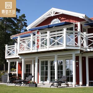Holiday House Prefabricated Luxury Villa Latvia Resort Log House Hotel Wood  House Wooden Cottage Buildings